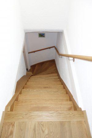 Treppenanlage geölt