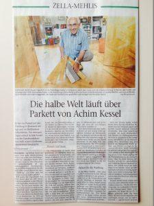 Freies Wort Suhl-Artikel: Die halbe Welt läuft über Parkett von Achim Kessel