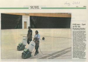 """Freies Wort Suhl im August 2011: """"Licht aus - Spot an für die Parkettschleifer"""""""