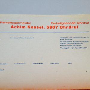 Ohrdrufer Briefkopfbogen Achim Kessel
