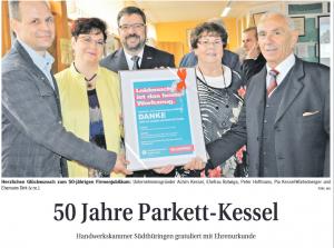 Geschäftsführer der HWK Suhl zu Gast beim 50. Jubiläum in ZM