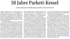Berichterstattung über unser 50. Jubiläum am 7.10.2016 in der HWZ Südthüringen