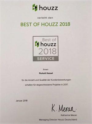 Houzz Auszeichnung für Service