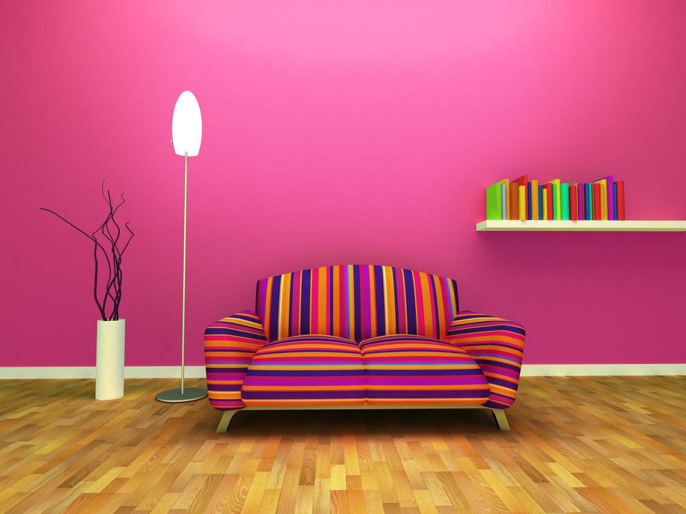 Ausdrucksstarke Einrichtungen mit Farbe Pink